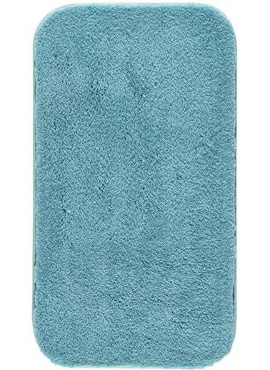 Confetti Miami Banyo Paspası Kaymaz Tabanlı Halı Cam Göbeği Mavi